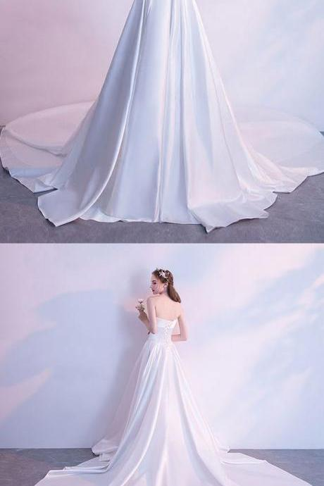 White long prom dress, wedding dress